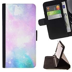 Momo Phone Case / Flip Funda de Cuero Case Cover - Galaxy gas nube nebulosa Arte Azul Rosa Cielo Estrellas - LG Nexus 5 D820 D821