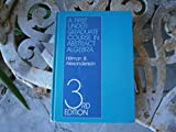 img - for The First Undergraduate Course in Abstract Algebra book / textbook / text book