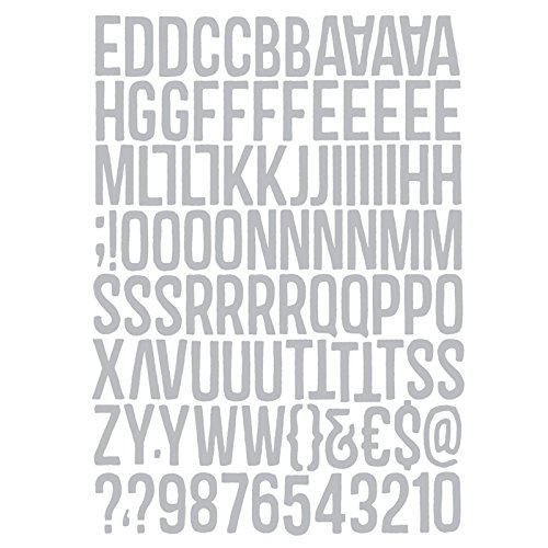 Sizzix 102 Pack 660210 Thinlits Die Set 1 Inch Tall Alphanumeric by Tim Holtz 102-Pack
