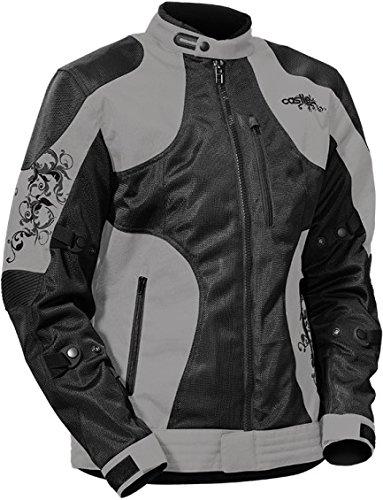 - Castle Prism Women's Motorcycle Jacket Gray/Black MED