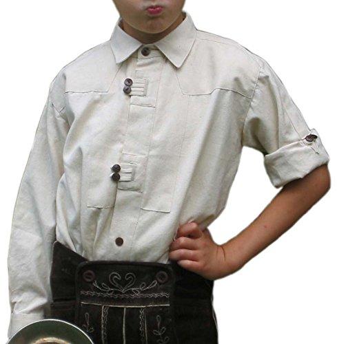 Kinderhemd Salzach weiß Kinder-Trachten-Hemd Baumwollhemd S-XXXL