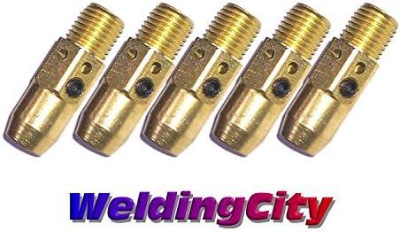 WeldingCity 5-pk Gas Diffuser 55SW for Lincoln Magnum 500-600 Tweco No.5 No.6 MIG Welding Guns