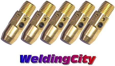 25 Contact Tips 14-35 for Lincoln Magnum 200-400A and Tweco #2-#4 MIG Welding Guns
