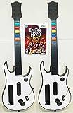 2 Nintendo Wii-U/Wii GUITAR HERO Controllers + Aerosmith Game Kit Double Bundle Set