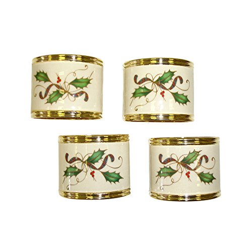 Lenox Holiday Nouveau Napkin Rings, Set of 4 (Lenox Napkin Ring)