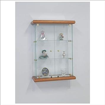 Vm Art Design Glass Vitrine Mural Vmbr2t Tr Merisier Amazonfr