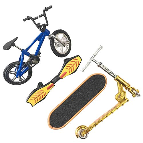 Guer Mini Finger Sports Set Skateboards/Bikes/Swing Board, Educational Toy Fun Bike Scooter For Kids Party Favors