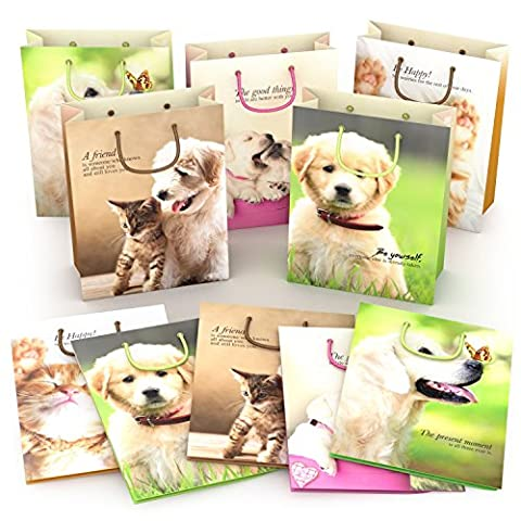 Kraft Gift Bags for Party Favors - Best Birthday Goodie Bags with Handles - Strong and Durable - Fun and Adorable Medium Paper Bags for Kids and Adults