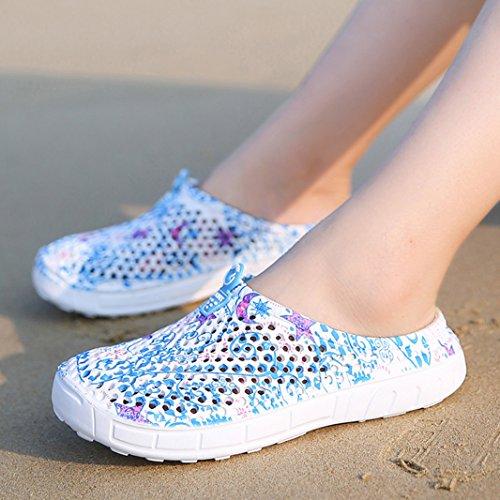 Azul Chanclas Playa Mujer de Zapatillas Trabajo Antideslizantes Piscina Pantuflas de Sandalias Chica SUADEEX Zuecos y 6vwOSUqq