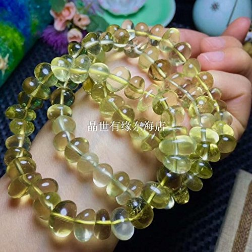 Natural lemon citrine bracelet citrine bracelet stone female fashion jewelry gift to send to friends Ly