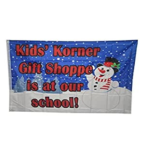 sagton® banderas 3por 5footchristmas muñeco de nieve ciervo regalo bandera latón arandelas