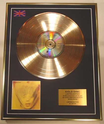 EC The Rolling Stones/Limited Edition Cd Gold Disc/'Goats Head Soup'/(The Rollin.