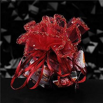 41e7e806d448 Amazon.com: XLPD 50Pcs 26CM Large Organza Bags Organza Jewelry ...
