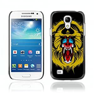 CaseCaptain Carcasa Funda Case - Samsung Galaxy S4 MINI / Colorful Monkey Painting /