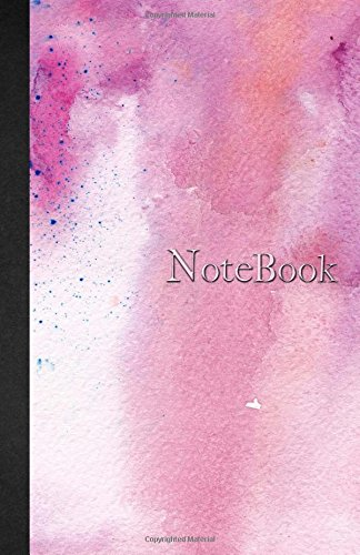 Read Online Notebook: 5.5 x 8.5 - Ruled - Lined - 110 pages - Watercolor and Marble - Pink - Notebook - 110 pages - soft cover glossy finish - journal, planner, organizer, agenda pdf epub