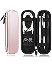 Fintie Holder Case for Apple Pencil 1st / 2nd Gen, PU Leather Carrying Bag Sleeve w/Mesh Pocket for iPad Air 3rd Gen, iPad Mini 5, iPad Pro 9.7 Pencil, Samsung Stylus, Surface Pen, Rose Gold