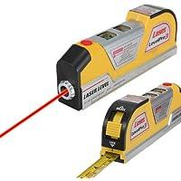 Multipurpose Lv022,4m Niveau laser Horizon vertical ruban à mesurer Standard et règle métrique ruban adhésif, jaune