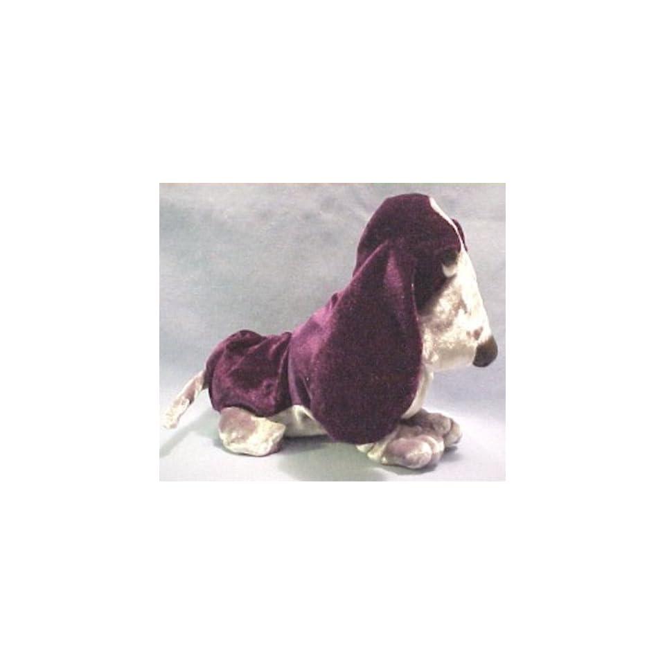 Hush Puppies Deep Purple Velvety Beanie Basset Hound Dog Puppy Silky Smooth Look by Applause