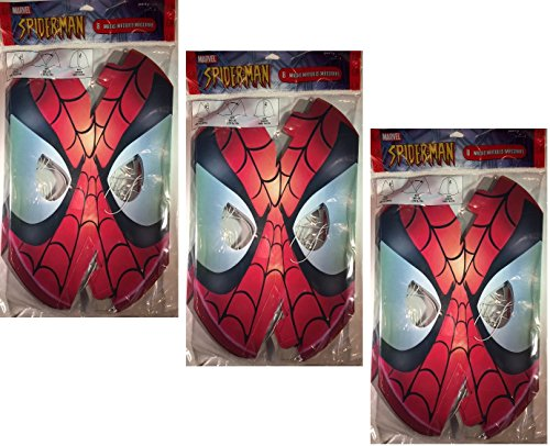 Spiderman Paper Masks - 24 Count