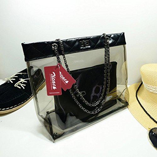 Bag Handbag Fashion Pockets BLACK Blue Shoulder Zicac waterproof Women's Style bags Double n0FqBxxCaw