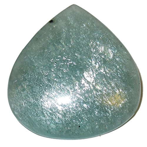 SatinCrystals Amazonite Cabochon Collectible Sparkling Sheen Teardrop of The Ocean Relax Your Soul Stone C01 (1.3 Inch)