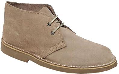 6cc6e6445bc Roamer Mens M467 Sand Suede New Mens Desert Boots Shoes
