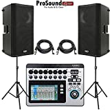QSC TouchMix-8 Compact Digital Mixer with Touchscreen + (2) QSC K12 Speakers with Stands and Cables (ProSoundGear) Authorized Dealer