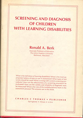 Screening and diagnosis of children with learning disabilities /