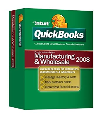 Quickbooks Premier Manufacturing & Wholesale Edition 2008 [OLD VERSION]