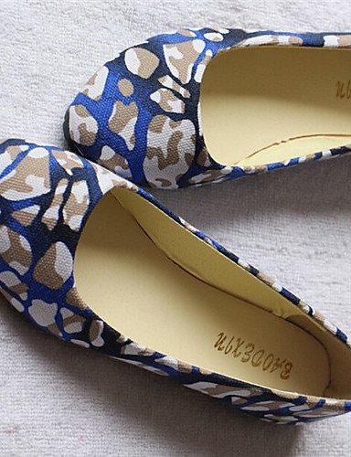 Guantes tacón nbsp;nbsp;Bailarinas nbsp;nbsp;Azul Zapatos Lila planas Rosa shangyi azul nbsp;nbsp;Plástico para nbsp;nbsp;LÄSSIG azul nbsp;nbsp;Plano nbsp;nbsp;redondas guantes damas mujer 1WR4Oq5v4