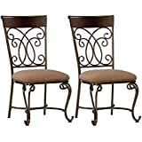 Standard Furniture Bombay 2-Pack Side Chairs with Upholstered Seat, Brown