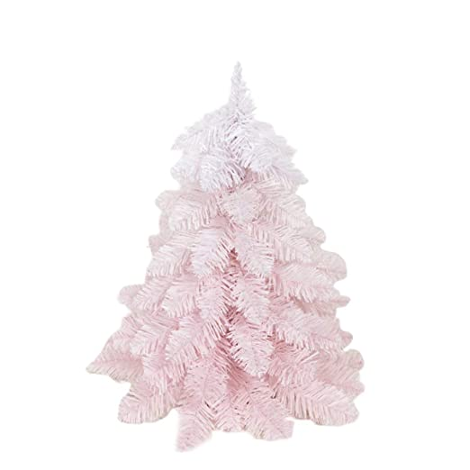 Holibanna Rosa árbol de Navidad Mini Centro de Mesa de gradiente ...