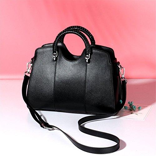 Bolso FONKIC BLACK de Cuero Crossbody los de de de Pink Mujeres Hombro de Las Bolsos p1drH1q