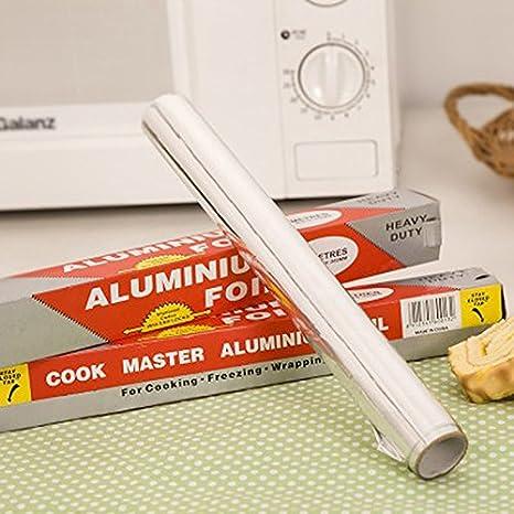 1Pc 5M Wrap Aluminum Metal Tin Foil Paper Food Pack Cook