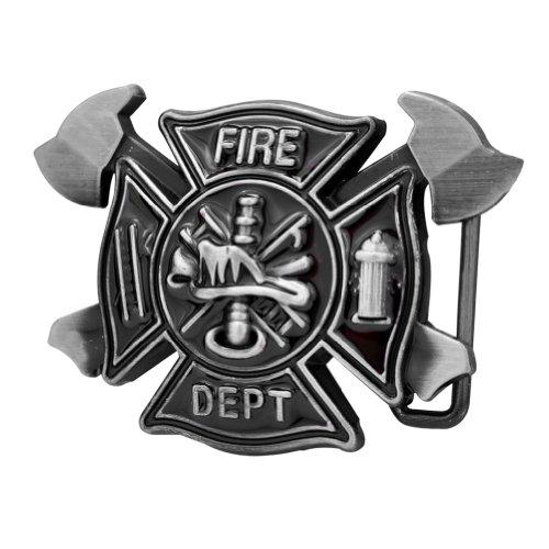 Firefighter Belt Buckle (Fire Department Fireman Firefighter Belt Buckle Silver)
