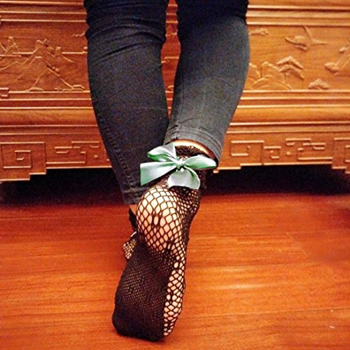 Donne Calze A Rete, Ragazze Inkach Elegante Increspatura Calze A Rete Alla Caviglia Alta Calzini Corti Pizzo Rete Calze A Rete Verde