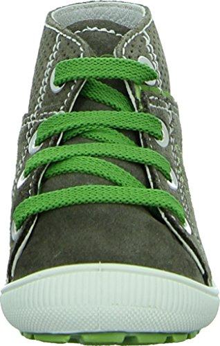IMAC 34811 Kinderschuhe Kleinkinder Halbschuh Lauflernschuh Leder Atmungsaktiv Anti-Shock Shock Absorber Fußbett Farbe: Braun/ Grün