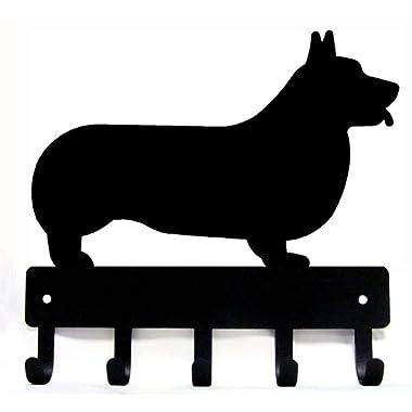 The Metal Peddler Corgi Key Rack Dog Leash Hanger Large 9 inch wide