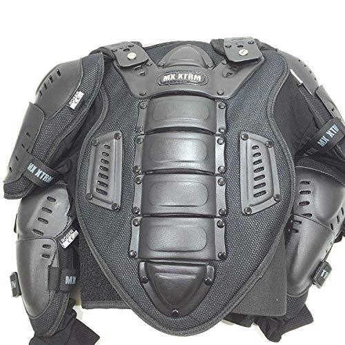XTRM Motorbike Adult Motocross Enduro Off Road Black Body Armour Deflector (Black, XL) ()