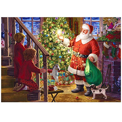 New Arrival!DEESEE(TM)DIY 5D Diamond EmbroideryFull Drill Santa Claus Rhinestone Pasted Embroidery Painting Cross Stitch Home Decor (D)