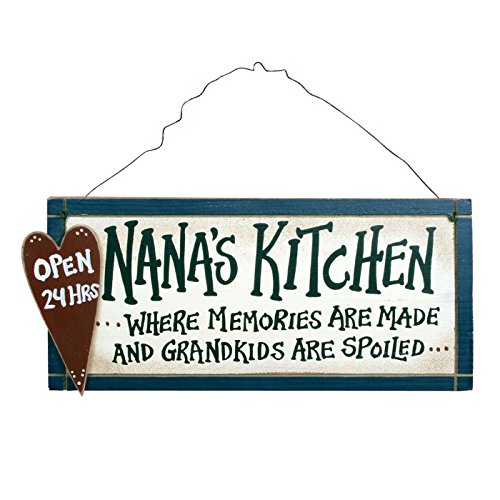 Nana's Kitchen Open 24 Hours Rustic Wood SIgn