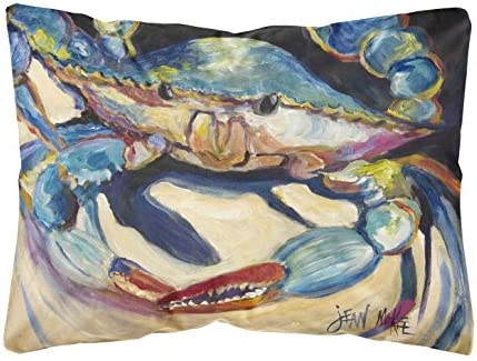 Caroline's Treasures JMK1094PW1216 Blue Crab Canvas Fabric Decorative Pillow
