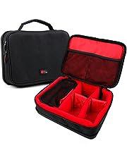 DURAGADGET Bolsa Acolchada Profesional Negra con Compartimentos e Interior en Rojo para Wahl Elite Pro, Wahl Groomsman, Wahl Magic Clip