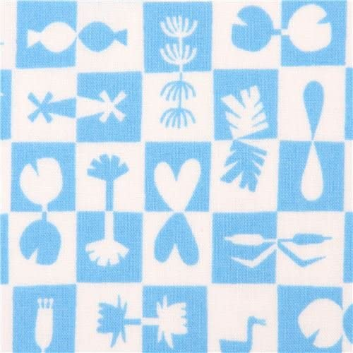 Cotton Quilting Fabric Organic Water Land Reflection Blue Cloud 9