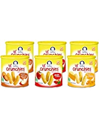 Gerber Graduates Little Crunchies Whole Grain Corn Snacks Variety Pack, 1.48 Ounce (Pack of 6) BOBEBE Online Baby Store From New York to Miami and Los Angeles