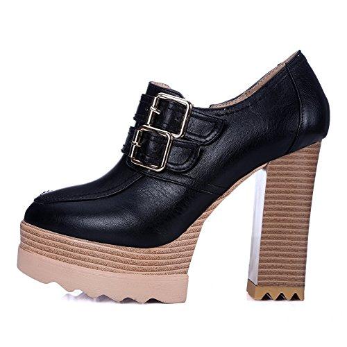 AdeeSu Sdc03781, Plateforme Femme - Noir - Noir, 36.5 EU