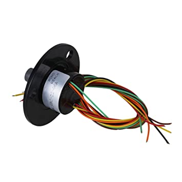 cnbtr 12/Dr/ähte Ring 250RPM AC//DC 240/V 2/A Power Collector Ring 22/mm