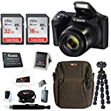 Canon PowerShot SX420 IS Digital Camera (Black) with 48GB Accessory Bundle