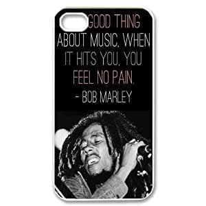diy Custom Cell Phone Case for iPhone 4,4S - Bob Marley Quotes case 5