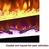 BizHomart Doris Electric Fireplace Recessed and